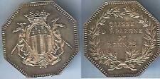 Jeton - RENNES caisse épargne silver d=31mm poids=14 gr poinçon + corne/tranche