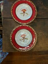 Two Fitz And Floyd Global Market Red Salad Plates