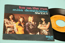 "SWEET 7"" FOX ON THE RUN ORIG ITALY 1975 NM !!!!!!! TOP COLLECTORS !!!!!!!!!!!"