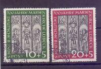 Bund 1951 - Marienkirche - MiNr. 139/140 rund gestempelt - Michel 160,00 € (442)