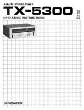 Pioneer TX-5300 Receiver Owners Manual