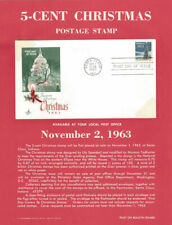 #1240 5c Christmas Stamp Poster- Unofficial Souv Pg ft / ArtCraft FDC