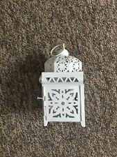White Metal Tealight Lantern New