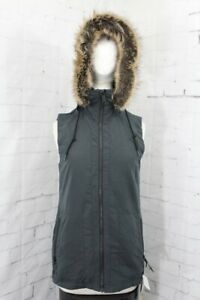 Volcom Longhorn Insulated Vest, Womens' Extra Small/XS, Black/Gray New