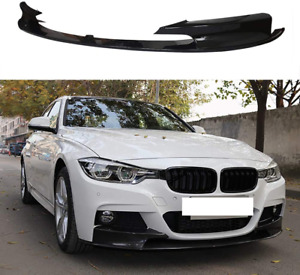BMW F30 F31 M sport performance GLOSS black front splitter spoiler lip skirt UK