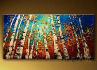 Pure Hand-painted Canvas Oil Painting Thick oil The woods NO Frame