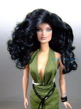 WIG size 4 Fits Barbie / Barbie size dolls Ginger by Monique   Black *