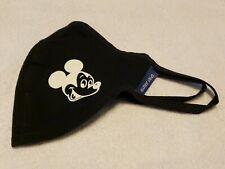 Disney Authentic Cloth Face Mask Size Large Mickey Spirit Jersey Black