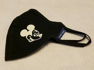 Disney Authentic Cloth Face Mask Size Large Mickey Mouse Spirit Jersey Black