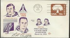 1978 1st Shuttle Launch Crew Announced, Autographed by Cmdr Robert L Crippen USN