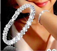 Bracelet Femme,Élégant,Chic,Indémodable,Cristaux Autrichiens,Acier Argent,ModeFR