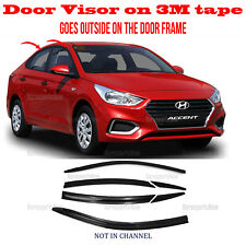 â­�6pcsâ­� Window Door Visor Vent Shade Rain Guard Hyundai Accent Sedan 2018-2021 (Fits: Hyundai Accent)
