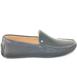 Scarpe uomo mocassino interland barca forato  car shoes  nero slip on made in