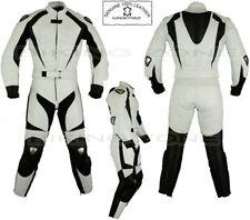 Blousons blancs taille en cuir pour motocyclette