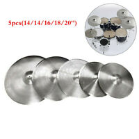 Low Volume Quiet Silent Cymbal Pack 5pcs with Cymbal Bag 14/16/18/20''