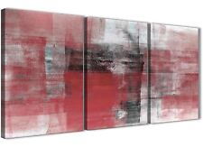 3 Panel Red Black White Painting Hallway Canvas Art - Abstract 3397 - 126cm