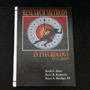 Research Methods in Psychology Fifth Edition Hardcover David G Elmes