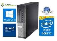 Dell Optiplex 7010 Desktop Computer with Fast 3rd Gen. i7 8GB RAM 1TB HDD Win 10