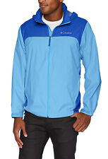 New Columbia Men's Glennaker Lake Front Zip Rain Jacket with Hideaway Hood XXL