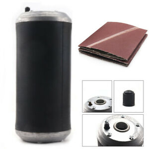 "Aluminum Pneumatic Sanding Drum Rubber Sleeve & 5pcs Sanding Belt Set 4"" X 9"""