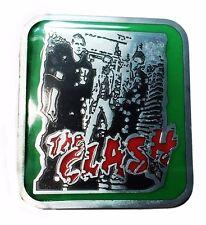 The Clash Punk Rock Band Metal/Enamel Belt Buckle