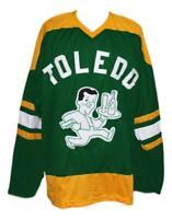Any Name Number Size Toledo Buckeyes Custom Retro Hockey Jersey Green