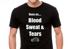 "Classic Mini Cooper T Shirt "" Blood sweat & tears"""