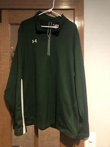 Men's Under Armour Green Quarter Zip Fleece-Lined, Loose Fit Pullover, 4XL, EUC