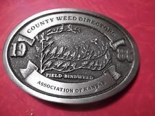 1986 County Weed Directors Association of Kansas Belt Buckle Field Bindweed 182