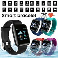 Waterproof Smart Watch Sport Tracker Heart Rate Monitor Bracelet For Android iOS