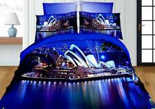 3tlg.3D Effekt Bettwäsche Bettbezug Bettgarnitur 155x200cm Sydney Melbourne