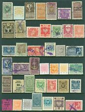 Poland – Nice Selection of Forty-one (41) Different – Revenue Stamps