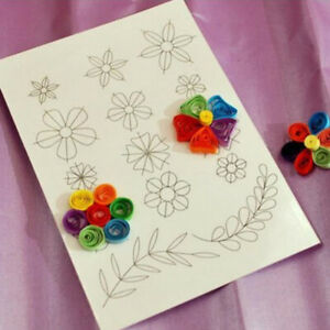 Flower Pattern Quilling Paper Template Mould Tools DIY Scrapbooking Paperc I*