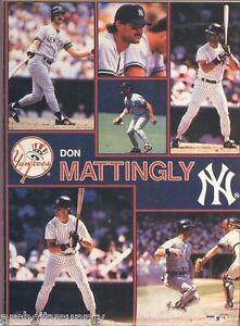 MONSTER POSTER: MLB BASEBALL: DON MATTINGLY - YANKEES - #PW-SLMP-DM  RAP114 B
