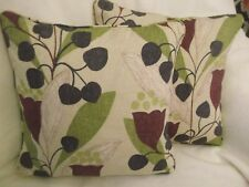 "Bellflower by Arthur Sanderson 1 Pair of 18"" Cushion Covers"