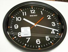 "SEIKO BLACK  WALL CLOCK 12.25"" IN DIAMETER  WITH QUIET SWEEP SECOND QXA727KLH"