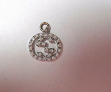 Gucci Diamond Britt Double G 4 Necklace Twirl Icon Logo Pendant With Bale