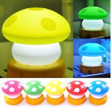 NEW LED Color Mini Mushroom Head Press Down Touch Night Bed Desk Lamp Light