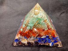 Carnelian, Lapis Lazuli & Green Aventurine Orgone Organite Energy Pyramid