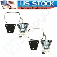 Chrome Manual Side View Mirrors LH & RH Pair Set For 1973-86 Chevy GMC Truck