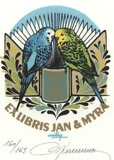 Ex Libris Willy Braspennincx : Opus 118, Jan & Myra (Rhebergen?) 160/165