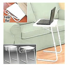 ADJUSTABLE FOLDING TABLE TV DINNER LAPTOP TABLE MATE TRAVELLING TRAY DESK
