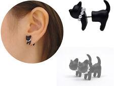 Punk Cool Simple Stereoscopic Cat Kitten Impalement Ear Stud Pretty Cute Earring