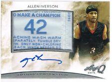 2015 Leaf ALLEN IVERSON # AMAI1 Q Memorabilia Autographs Silver Landry Tag Patch
