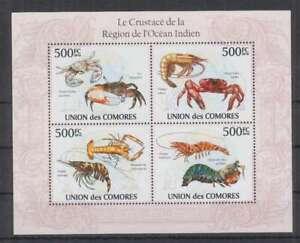 K469. Comores - MNH - 2010 - Nature - Fauna - Marine Life - Crabs