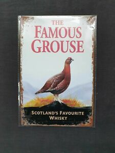 Famous Grouse Whisky (Old Style) Metal Sign Plaque Man Cave Beer Pub Bar Garage