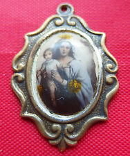 Rare antique religious medal Our Lady of Mount Carmel Old Pendant