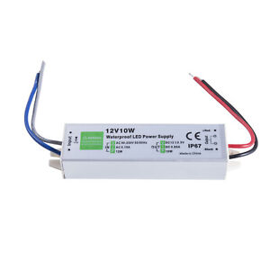 Waterproof LED Driver 10W 0.85A 12 v volt IP67 power supply transformer outdoor