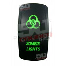 UTV Part Kawasaki Mule Gator Zombie Lights Green Rocker Switch 12v Wildcat Teryx