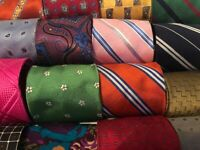 LOT 200 Pcs Silk Polyester Neckties Vintage Quilt Cutter Craft Neck Tie Wear